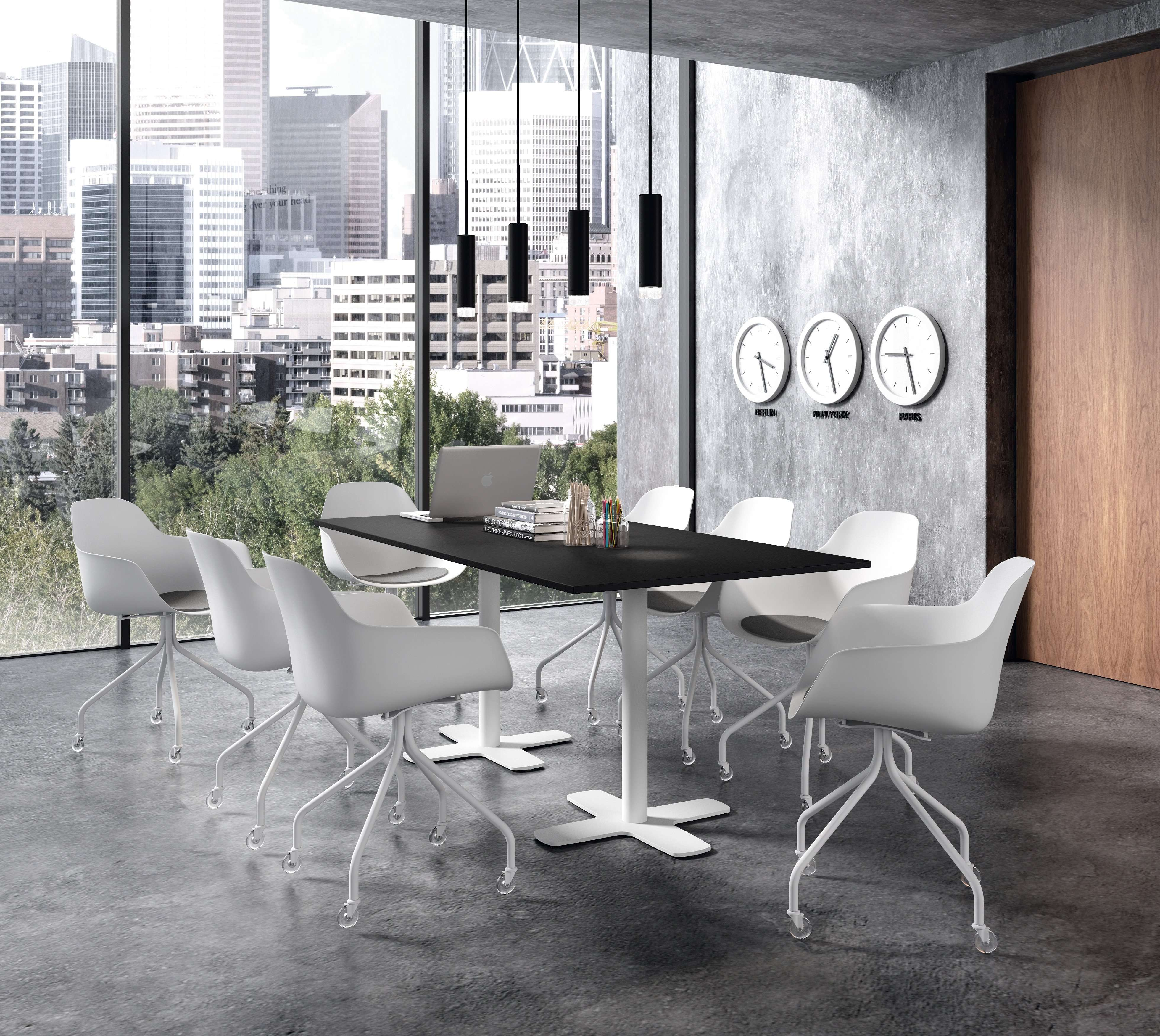 Table de cuisine rectangulaire spinner et chaise roulettes bora meuble loi - Table cuisine rectangulaire ...