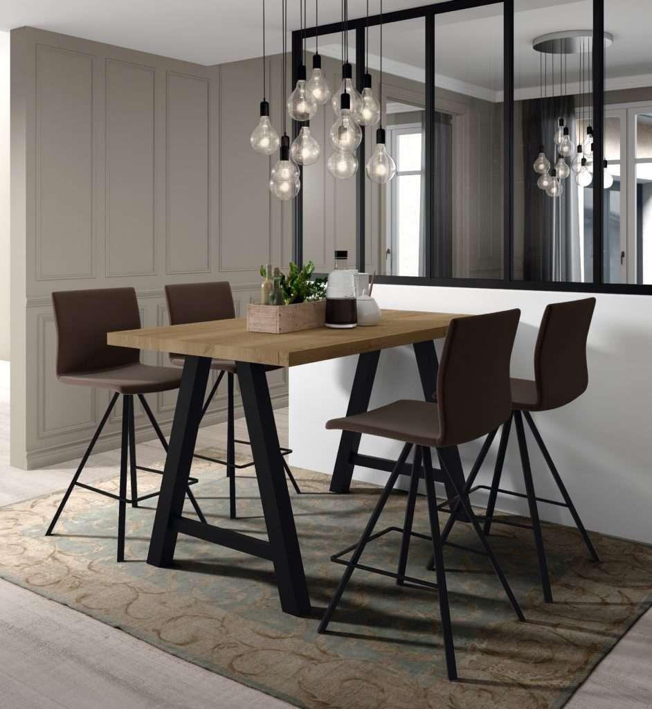 Table de cuisine haute querido et tabouret de bar silva Table haute de cuisine