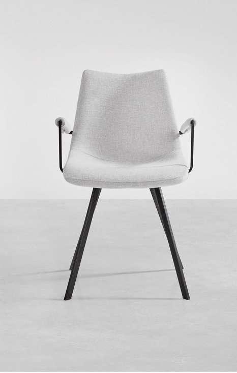 chaise avec accoudoir Jorrick tissu vert - Meuble Loi - Boussu Lez Mons - Hainaut