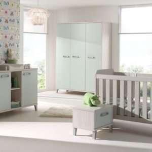 chambre de bébé - évolutive - verdi - armoire - chevet - commode et plan à langer - lit transformable - chevet - meuble Loi - Boussu Lez Mons - Hainaut